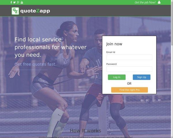 Service Quotes portal