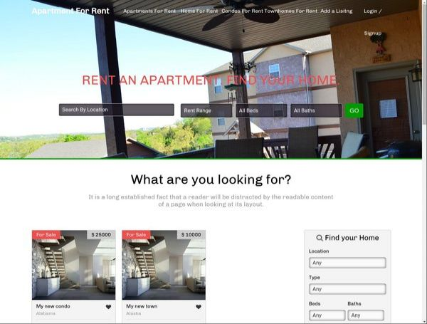 Apartment and Condos Rentals Classifieds